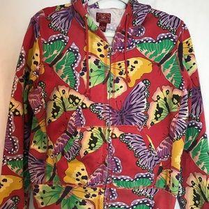 LOVE LOVE! Lucky Butterfly hooded sweatshirt!